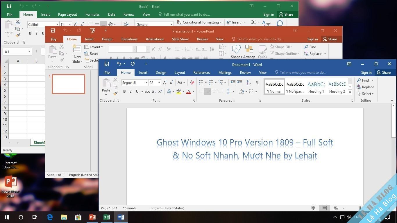 Ghost Windows 10 1809 Lehait